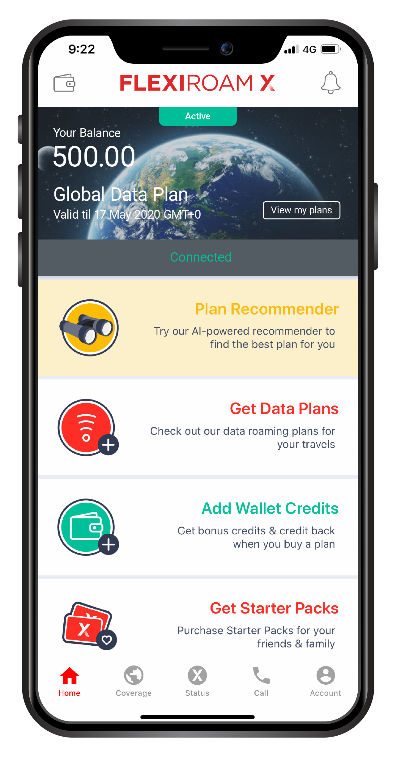 Plan Recommender is available on our App! Source: Flexiroam