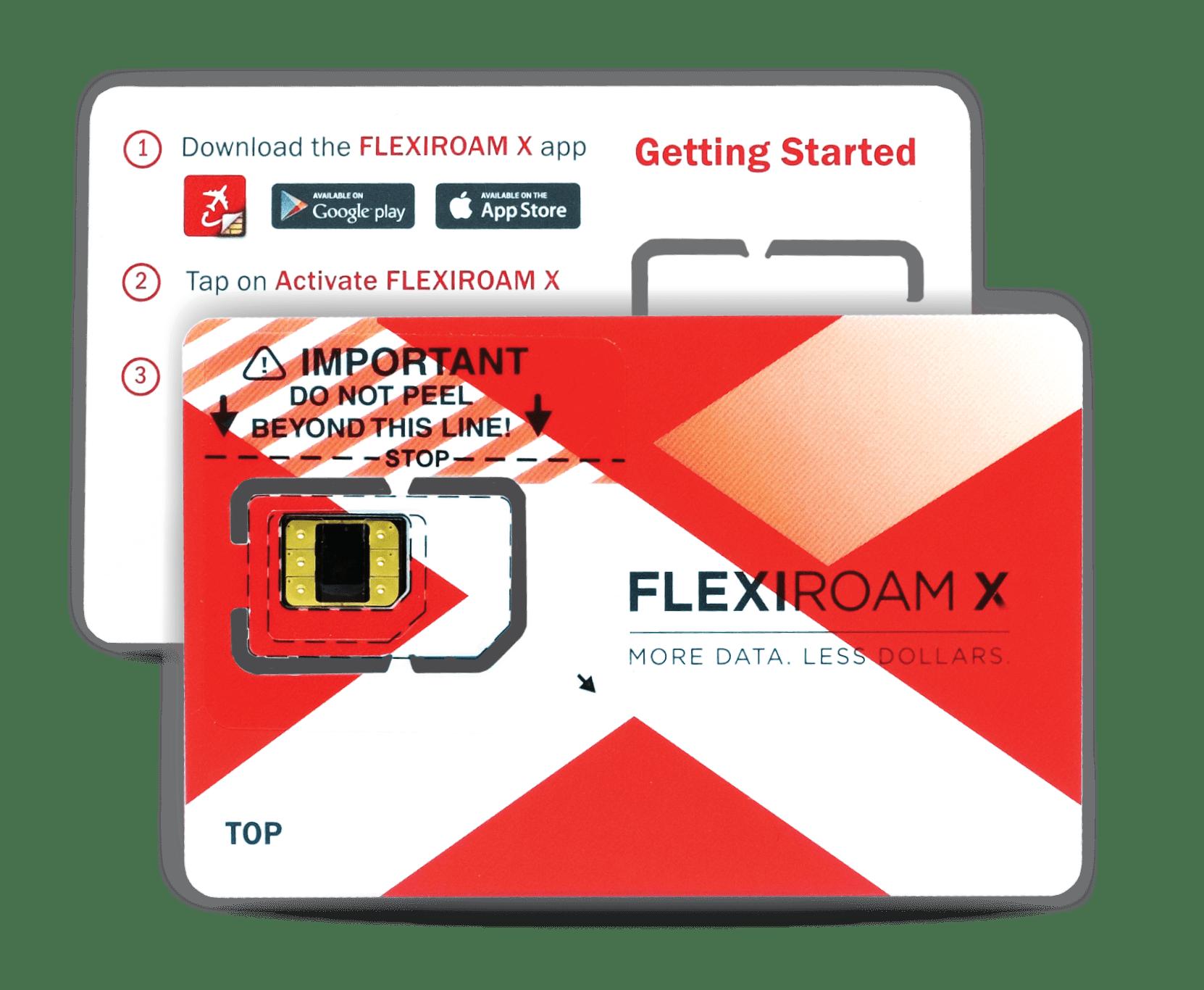 Get your starter packs from Flexiroam X App. Source: Flexiroam